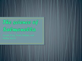 The science of Salmonella