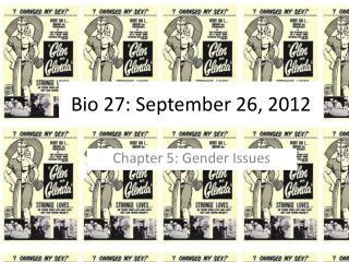 Bio 27: September 26, 2012