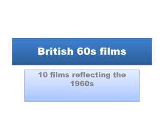 British 60s films