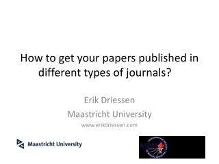 How  to get  your  papers  published in  different types of  journals ?