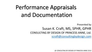 Performance Appraisals  and Documentation