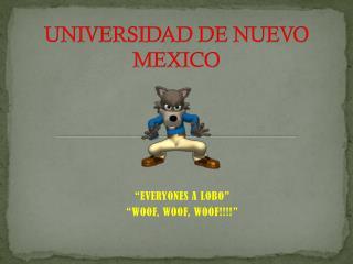 UNIVERSIDAD DE NUEVO MEXICO
