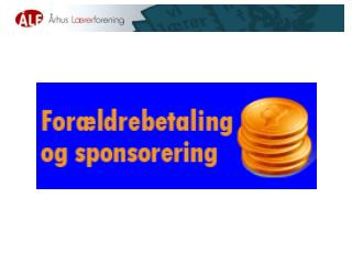 For�ldrebetaling og Sponsorering