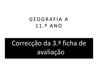 GEOGRAFIA A 11.º ANO