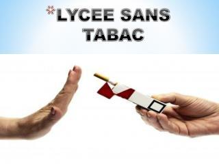LYCEE SANS TABAC