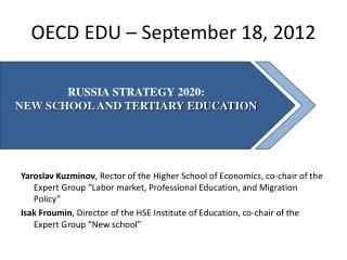 OECD EDU –  S eptember 18, 2012