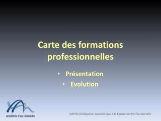 Carte des formations professionnelles