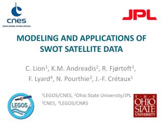 modeling and applications OF swot satellite data