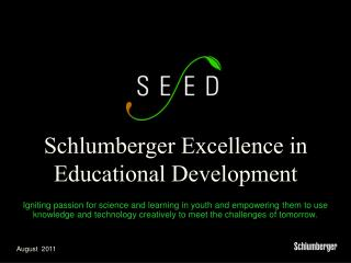 Schlumberger Excellence in Educational Development