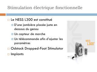 Stimulation électrique fonctionnelle