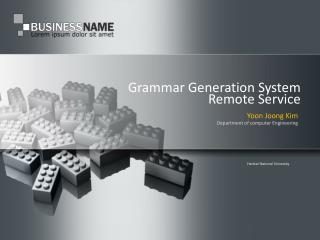 Grammar Generation System  Remote Service