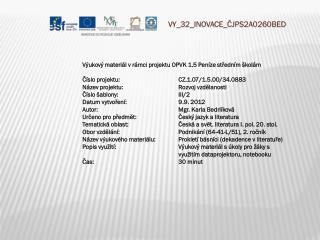 V Y_32_INOVACE_ ČJPS2A0260BED