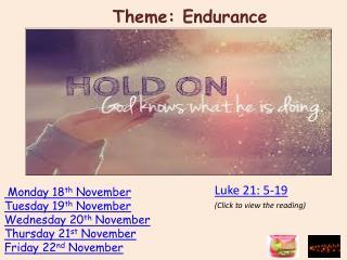 Theme: Endurance