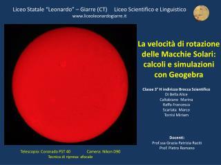 """Liceo Statale """"Leonardo"""" – Giarre (CT)     Liceo Scientifico e Linguistico"""
