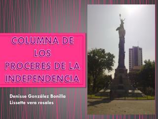 COLUMNA DE LOS  PROCERES DE LA INDEPENDENCIA