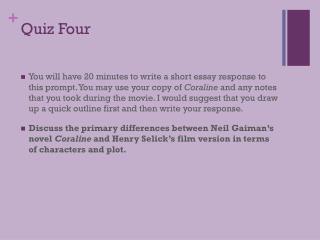 Quiz Four