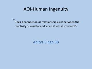 Aditya Singh 8B