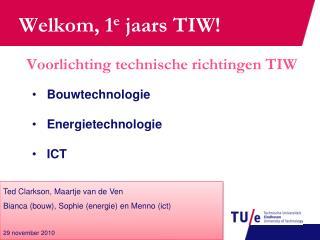 Voorlichting technische richtingen TIW