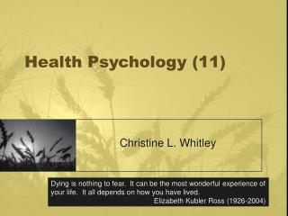 Health Psychology 11