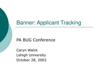 Banner: Applicant Tracking
