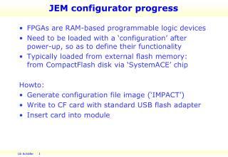 JEM  configurator  progress