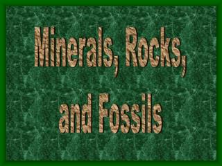 Minerals, Rocks, and Fossils