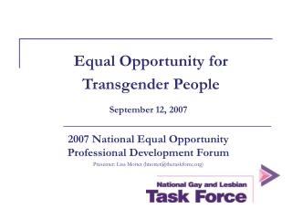 Equal Opportunity for Transgender People