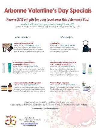 Arbonne Valentine's Day Specials