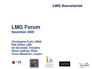 LMG Forum December 2009