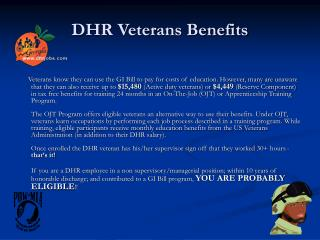 DHR Veterans Benefits