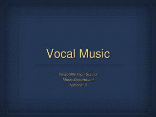 Vocal Music