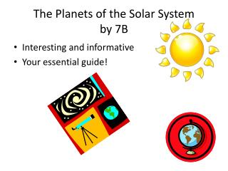 The Planets of the Solar System  by 7B