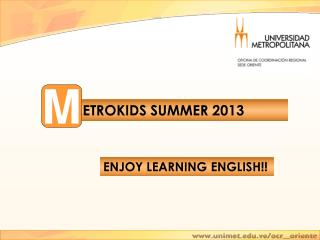 ENJOY LEARNING ENGLISH!!