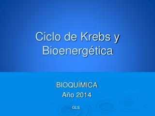 Ciclo de Krebs y Bioenergética