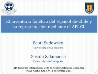 El inventario fonético del español de Chile y su representación mediante el AFI-CL