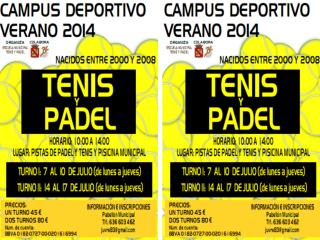 INSCRIPCIÓN CAMPUS DE TENIS Y PÁDEL DATOS DEL PARTICIPANTE