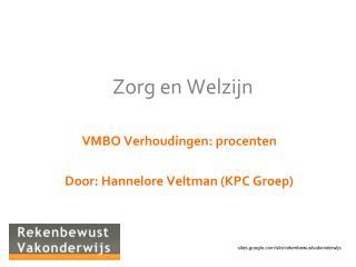 Zorg en Welzijn