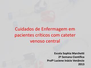 Cuidados de Enfermagem em pacientes críticos com cateter venoso central