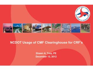 NCDOT Usage of CMF Clearinghouse for CRF's