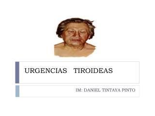 URGENCIAS   TIROIDEAS