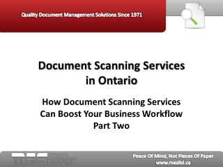 Document Scanning Services in Ontario:  How Document Scannin