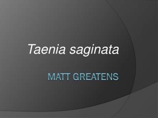 Matt Greatens