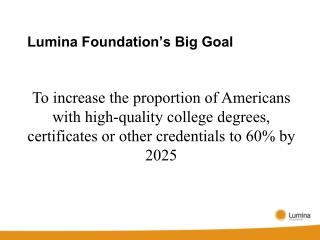 Lumina Foundation's Big Goal