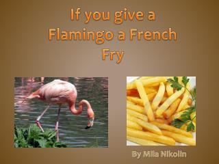 If you give a Flamingo a French  F ry