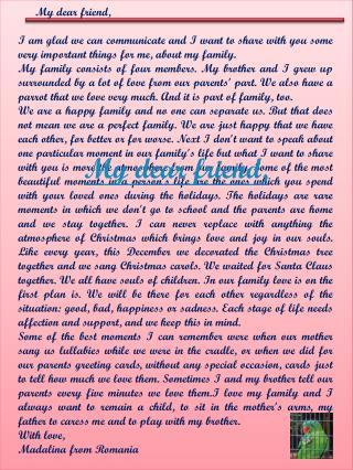 My dear friend,