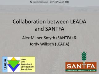 Collaboration between LEADA and SANTFA