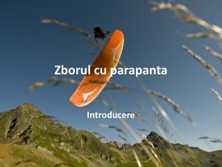 Zborul  cu  parapanta