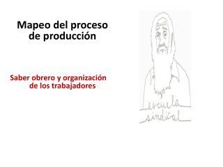 Mapeo  del proceso de  producción Saber  obrero y  organización de  los trabajadores