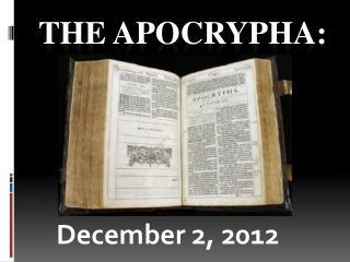 The Apocrypha: