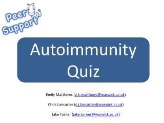 Autoimmunity Quiz